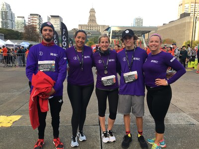 The 2019 Scotiabank Toronto Waterfront Marathon was a big success with over $3.5 million raised for 190 local charities as part of the Scotiabank Charity Challenge. Members of the Maddie Project celebrate after the race. (CNW Group/Scotiabank)