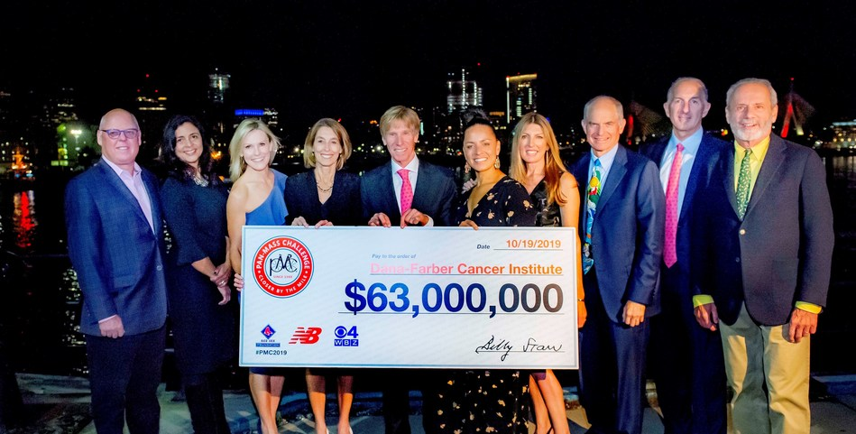 Dana-Farber Cancer Institute received its largest financial gift ever – a record-breaking $63 million – from the Pan-Mass Challenge, the nation's most successful single-event athletic fundraiser, at a celebration in Charlestown, MA on Saturday, October 19. Photo Credit: John Deputy