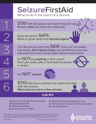 Seizure First Aid: Stay, Safe, Side