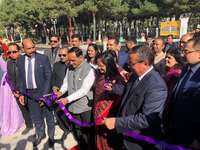 H.E. Mr. Vijay Rupani , Chief Minister of Gujarat, Republic of India inaugurating the Sharda University Campus in Uzbekistan