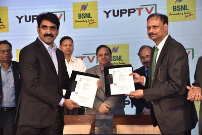 YuppTV join forces with BSNL for a triple-play service partnership