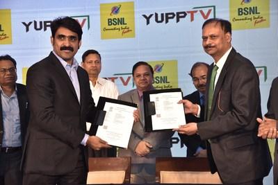 YuppTV和BSNL就三重播放服务达成合作关系