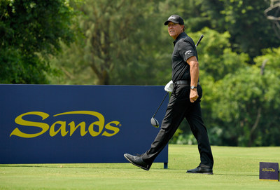 Five-time Major Champion Phil Mickelson is one of Sands' guests at the company's junior golf clinic event Monday.