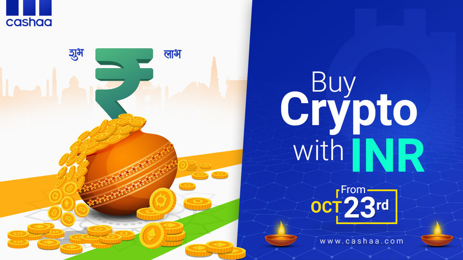 Buy crypto with INR through Cashaa