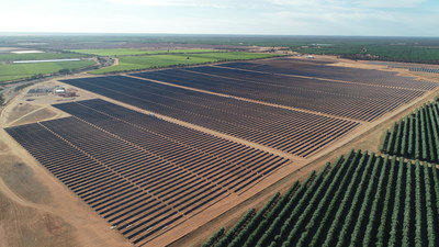 Wemen Solar Farm (110 MW) featuring NEXTracker's NX Horizon smart solar tracker. Victoria, Australia. Photo courtesy: Wirsol.