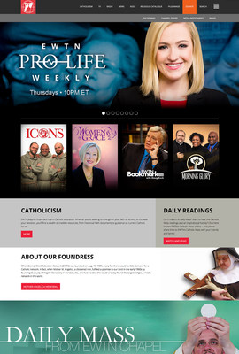 EWTN, the Web's largest Catholic content producer, announces the launch of a newly optimized, mobile friendly, thoroughly modern website, which allows viewers to easily access all of EWTN's content across multiple platforms. Come see what the excitement is about at www.ewtn.com.