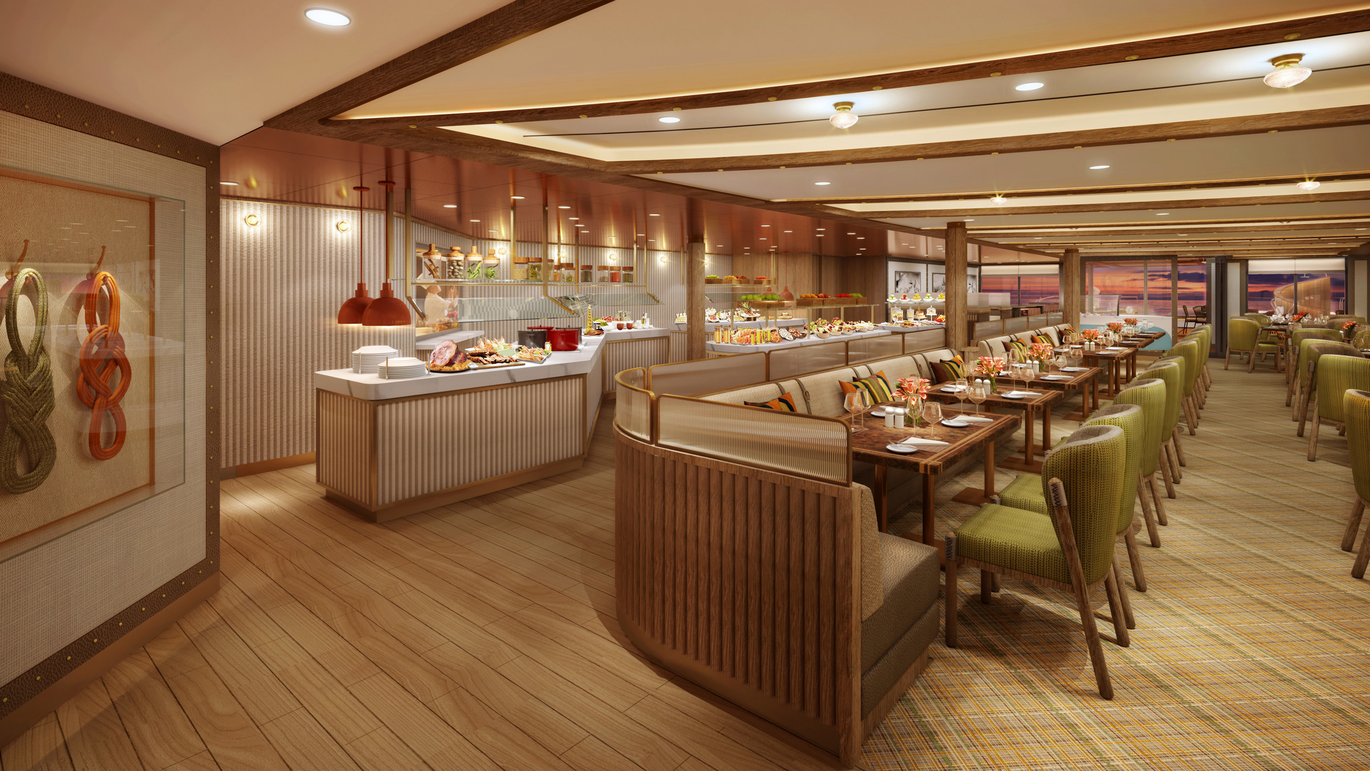 Seabourn Outlines Details For 'The Colonnade' Dining Venue On Its New Seabourn Venture