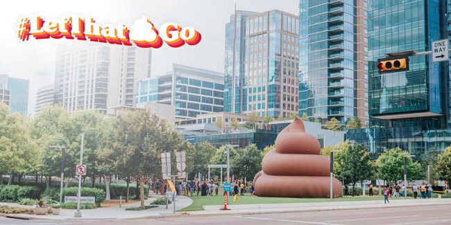 Poo-Pourri's Giant Poo in Dallas' Klyde Warren Park