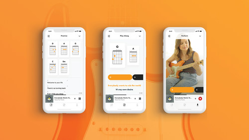 Fender Songs allows players to practice, play along and perform with chords and lyrics to millions of their favorite songs