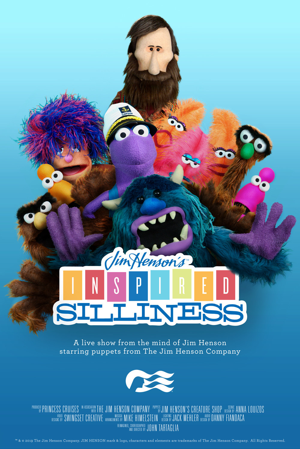 Jim Henson's Inspired Silliness Puppet Show to Debut Onboard New Sky Princess & Enchanted Princess