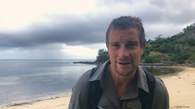 Bear Grylls participates in the Movember public service announcement