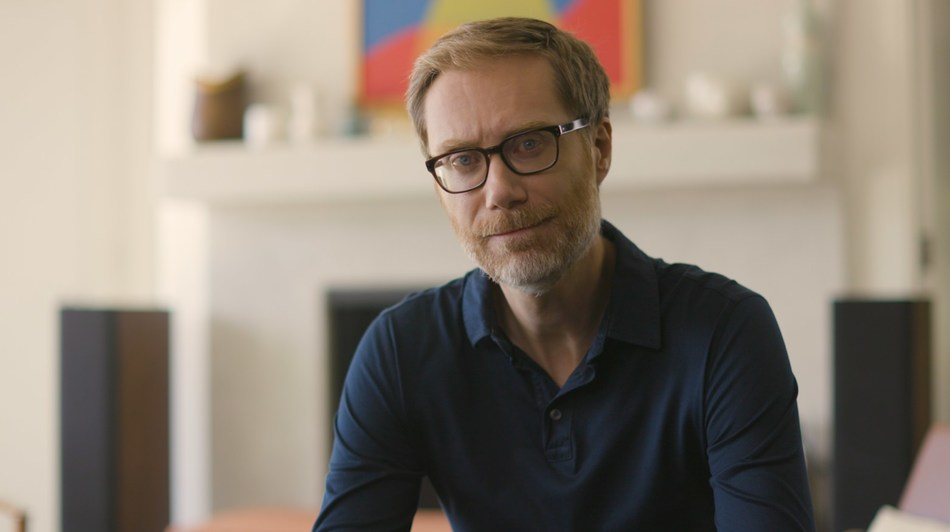 Stephen Merchant participates in the Movember public service announcement