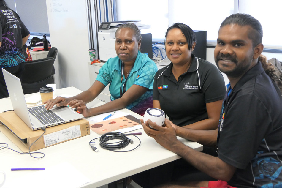 Aboriginal Health Workers and Diabetes WA Staff using Silhouette