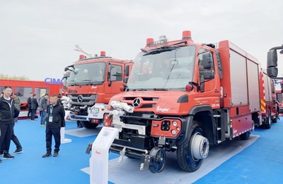 CIMC-TianDa's fire trucks