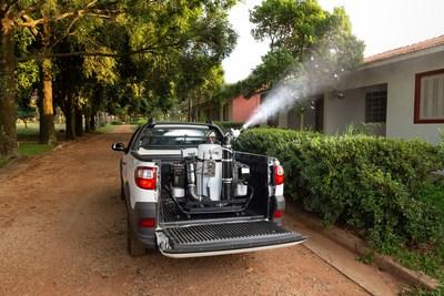 O Mini Gerador Aerossol a Frio permitie fácil adaptação a diversos veículos, como pick-ups de pequeno porte