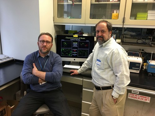 Pictured left to right: Sander Markx, M.D., Assistant Professor of Psychiatry at Columbia University Medical Center, and Robert J. Shprintzen, Ph.D., President and Chairman of the Board at the Virtual Center for Velo-Cardio-Facial Syndrome
