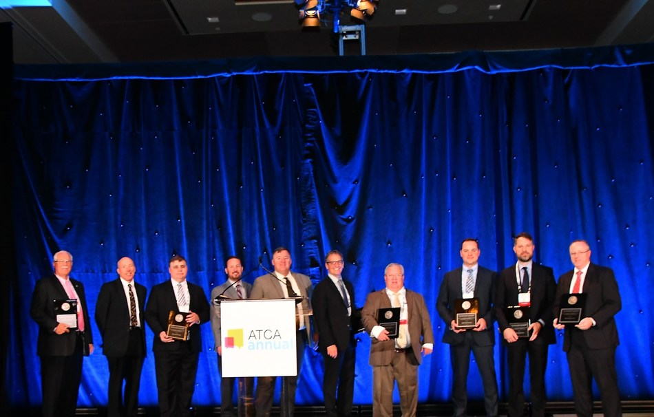 GBDAA SkyVision team accepts the ATCA Annual Team Award for Outstanding Achievement.