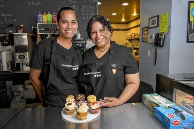 Brooklyn Cupcake owners Gina Madera and Carmen Rodriguez.