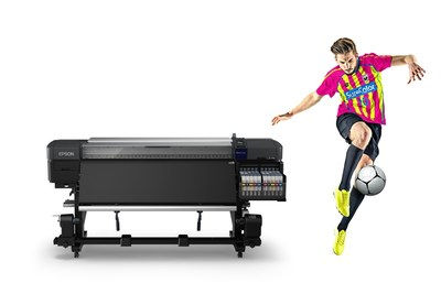 The SureColor F9470H is Epson's first dye sublimation printing solution featuring two genuine fluorescent inks ? Yellow and Pink ? which bring bright, vivid colors to the production of sportswear, workwear, and fashion items.