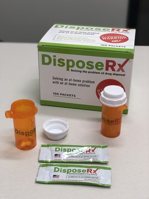 Beginning in 2020, all CVS Pharmacy locations that do not currently have safe medication disposal will offer DisposeRx packets at no cost to patients filling an opioid prescription for the first time. According to the manufacturer, when water and the DisposeRx powder are added to a pill bottle with unwanted prescription medications the combination produces a biodegradable gel, allowing for safe disposal at home.