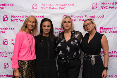Katie Danziger, PPNYC Board Chair; Alexis McGill-Johnson, Acting President & CEO, Planned Parenthood Federation of America; Laura McQuade, President & CEO, Planned Parenthood NYC Votes PAC; Anya Hoerburger, PPNYC Votes PAC Board Chair. Photo credit: Giada Paoloni