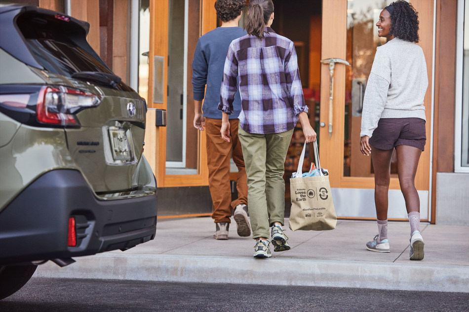 Subaru brings recycling program to all REI stores offering a convenient way for REI members and customer to recycle snack wrappers.