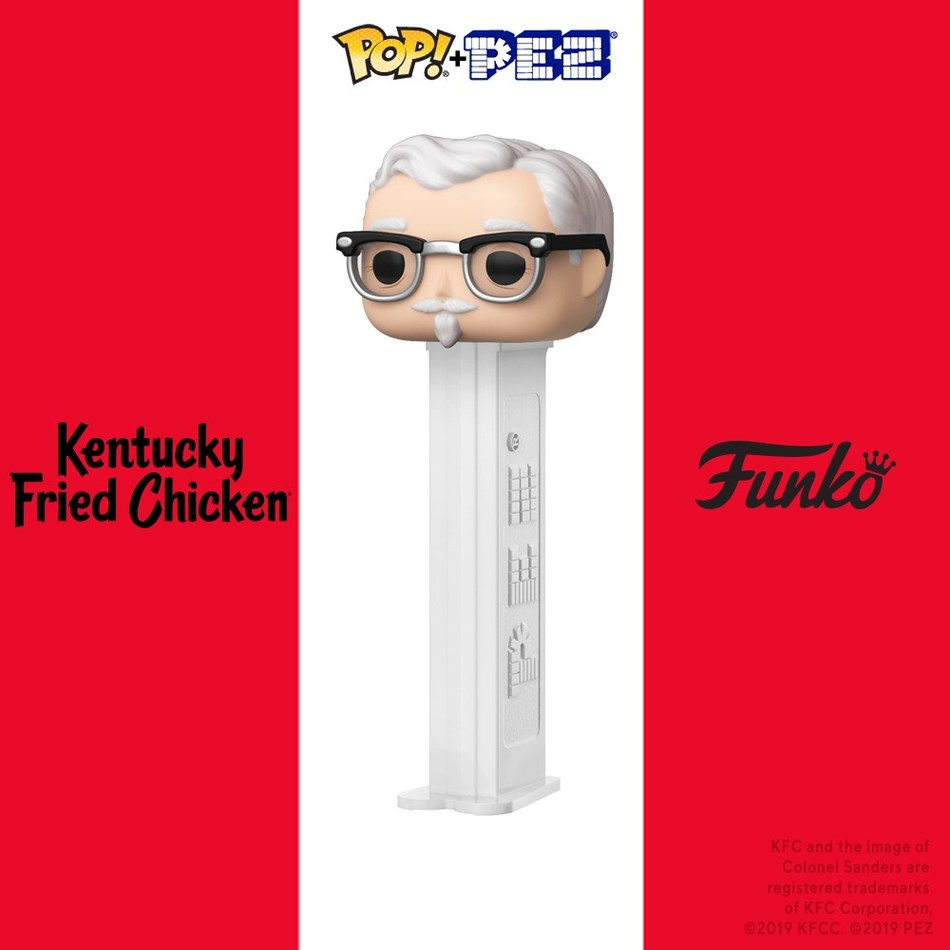 Kentucky Fried Chicken® has partnered with Funko and PEZ to create a limited-edition Pop! PEZ Colonel Sanders candy dispenser.