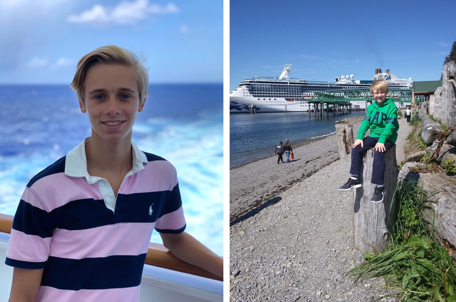 Meet Princess Cruises Most-Traveled Youth Guests Alexis Lavoie (left) and Wyatt Wilkinson (right)