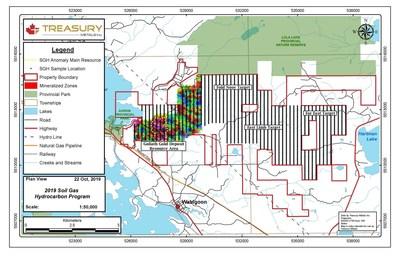 Figure 2: SGH Field Sampling Lines - Plan Map (CNW Group/Treasury Metals Inc.)