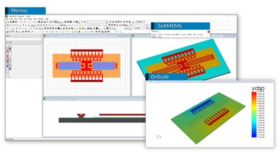 OnScale enables full 3D simulations of MEMS resonators directly from Mentor through SoftMEMS.
