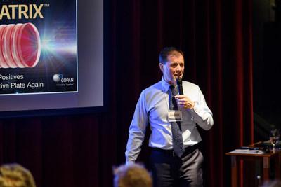 COPAN Diagnostics CEO presenting benefits of A.I.