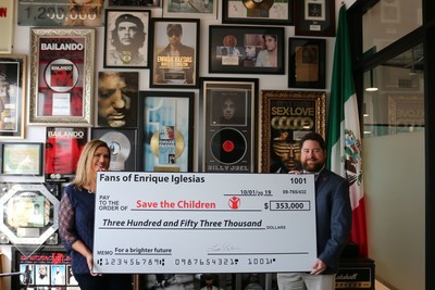 GRAMMY® Award-Winning Global Artist Enrique Iglesias Salutes Fans for Helping Contribute Over $350,000 to Save the Children