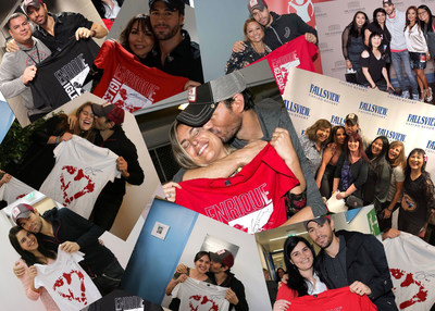 Enrique Iglesias with his Fans Supporting Save the Children