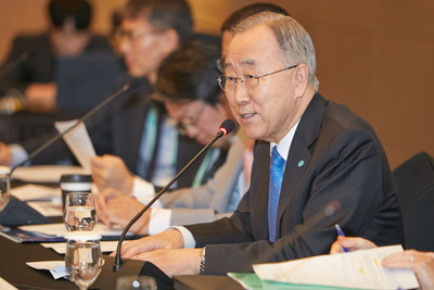 Mr. Ban Ki-moon, 8th Secretary-General of the United Nations, Re-elected as President and Chair of GGGI