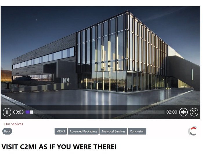 VISIT C2MI AS IF YOU WERE THERE! (CNW Group/MiQro Innovation Collaborative Centre (C2MI))