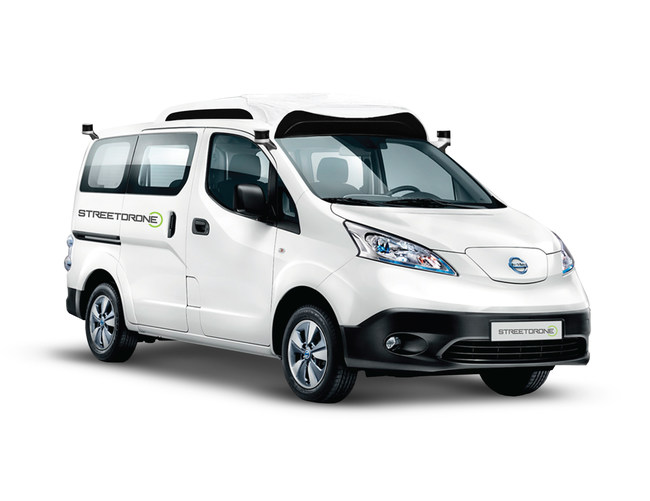 StreetDrone's open autonomous system, pictured here on a Nissan e-NV200, can be integrated by Plasan onto any platform, for testing or to create a commercial product (PRNewsfoto/Plasan Sasa)