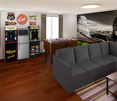 Retro video games are a highlight of Super 8 by Wyndham's new shared room concept, ROOM8. (PRNewsfoto/Wyndham Hotels & Resorts)