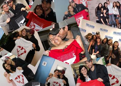 Enrique Iglesias con sus fans en respaldo de Save the Children (PRNewsfoto/Enrique Iglesias)