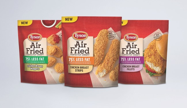 Tyson® Brand announces the new Tyson® Air Fried Chicken, available in three varieties, no air fryer needed.