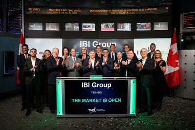 IBI Group Inc. Opens the Market (CNW Group/TMX Group Limited)