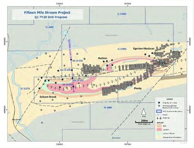 Fifteen-mile stream q1 FY20 drill program (CNW Group/Metalla Royalty and Streaming Ltd.)