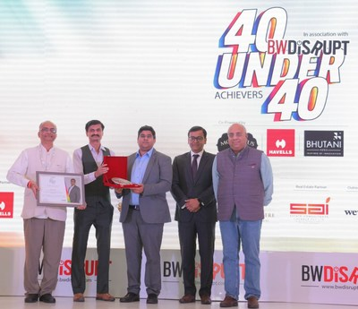 Varun Jain Founder, Director & CEO, Upcurve Business Services Pvt Ltd recognised as India's Most Definitive List of Young Achievers at Business World 40 under 40 in association with BW Disrupt