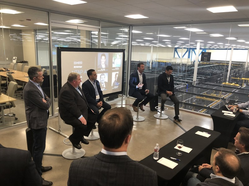 Representatives from Flexential, NVIDIA, NetApp, Trace3, and Mellanox discuss how to accelerate artificial intelligence through the ONTAP AI platform this week in the Flexential Hillsboro data center. ONTAP AI Test Drive is available to select businesses today.
