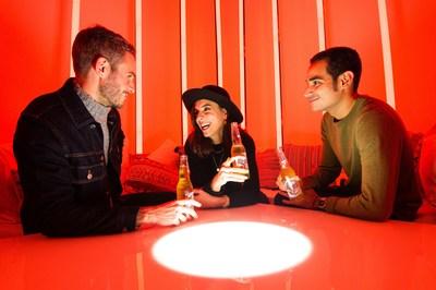 City-dwellers get their vitamin D fix and boost their serotonin levels with specialist SAD lights at The Sol Bar (PRNewsfoto/Sol)
