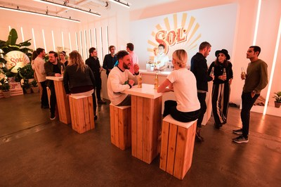 The Sol Bar where the sun never sets reconnects city-dwellers with the positive energy  feeling of being in the sun when there isn't any (PRNewsfoto/Sol)