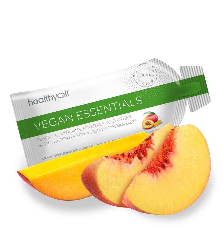Vegan Essentials provides a broad spectrum of essential vitamins, minerals and other vital nutrients specifically needed in vegan diets.† MICROGEL™ ensures maximum absorption of premium vegan ingredients, including vitamin B12, plant-sourced vitamin D3, omega 3-6-9 fatty acids from Ahiflower®, zinc and vitamin A, in highly bioavailable forms to support optimal vegan health.†
