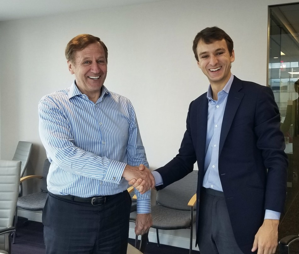 Ian Crouch, Chief Executive Officer at Reveal Group, and Charlie Newark-French, Chief Operating Officer at HyperScience, pictured in New York City.
