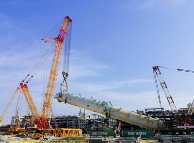 La XGC88000 de 4.000 toneladas de XCMG completa su primera asignación en el extranjero en Arabia Saudita. (PRNewsfoto/XCMG)