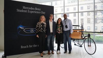 Daimler Management at Mercedes-Benz Student Experience Day held at MIT Media Lab in Cambride, MA -- left to right: Sabine Scheunert, Philipp Skogstad, Susanne Hahn, Georges Massing