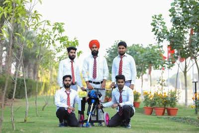 Multi-Crop Residue Manager developed by the engineering students of Chandigarh University